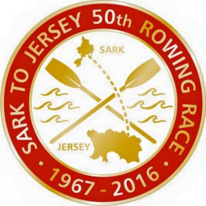 Sark to Jersey 50th Logo